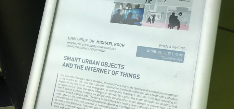 Vortrag zu Smart Urban Objects and the Internet of Things