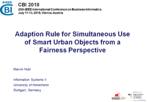 UrbanLife+ auf der 20th IEEE International Conference on Business Informatics